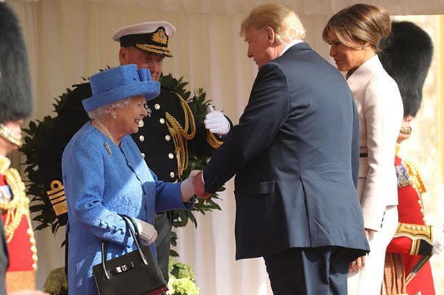 Как прошла встреча Дональда Трампа и королевы Елизаветы II в Лондоне