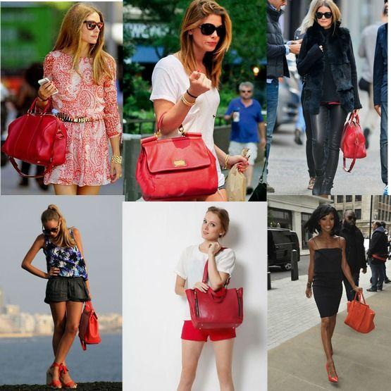 be11171c99b5 С чем носить красную сумку – примеры и рекомендации!   Каблучок.ру