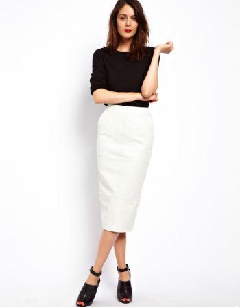 Белая кожаная юбка новые фото