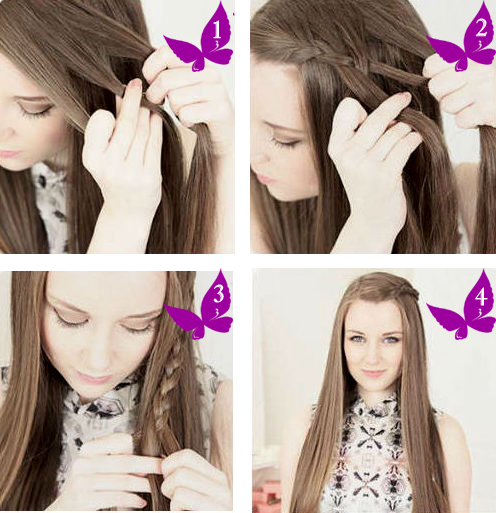 Как сделать косу на бок фото 930