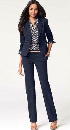 59464dcaa1f Каким должен быть идеальный деловой костюм для женщин (110 фото ...