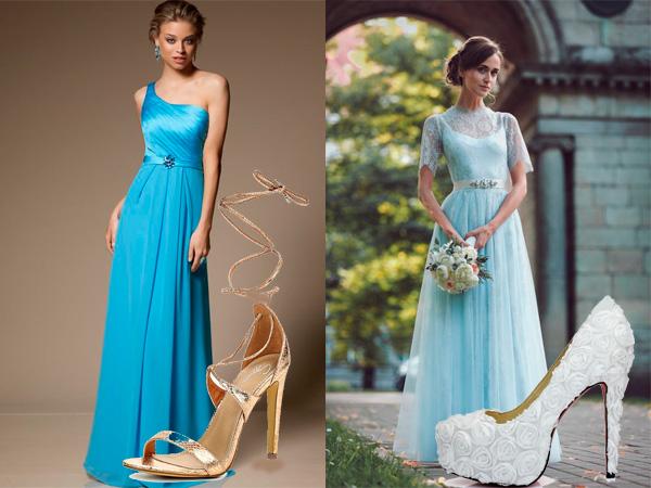 0f59b481f05 Секреты стиля  подходящая обувь к голубому платью
