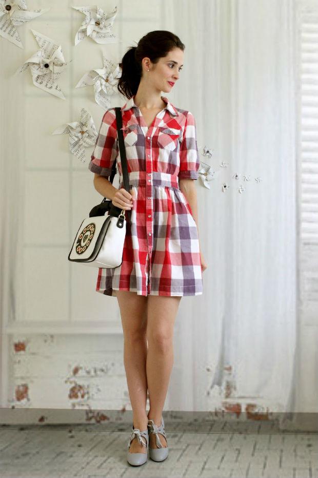 774cd6ecad9 Платье в клетку – модная классика с выразительными акцентами (более 65  фото) ...