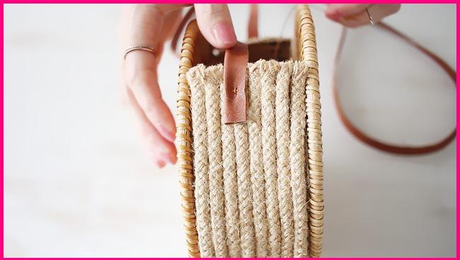 2d5ccbfe3979 Как сделать плетеную сумку своими руками из подставок под горячее ...