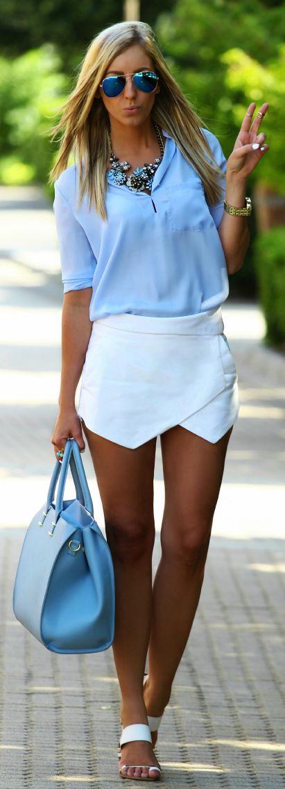 С чем носить синие очки: с синими линзами или оправой (более 40 фото)