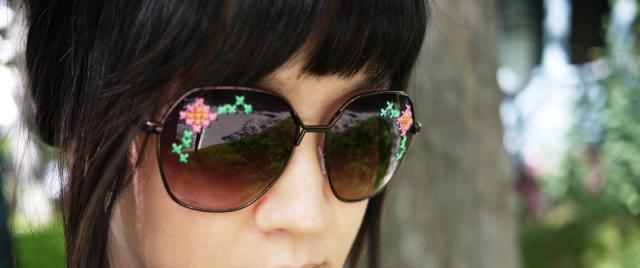 Супер модные очки с вышивкой своими руками (мастер-класс)