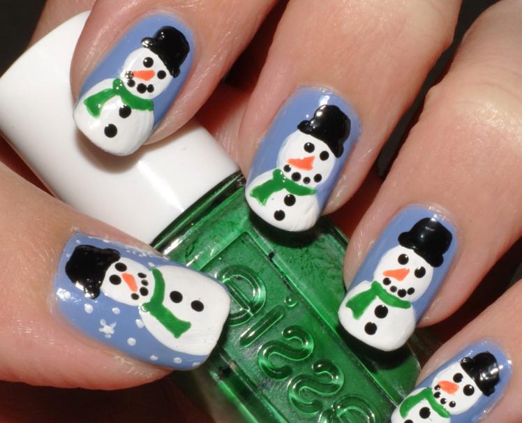 Новогодний дизайн ногтей: как нарисовать Снеговика на ногтях (пошагово)