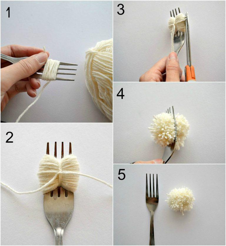 Как сделать елку из помпонов своими руками (настольная елочка)