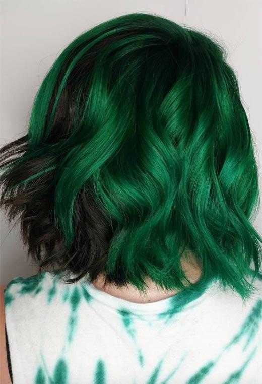 Глаз не отвести! Как смотрятся зеленые волосы на девушках (подборка фото)